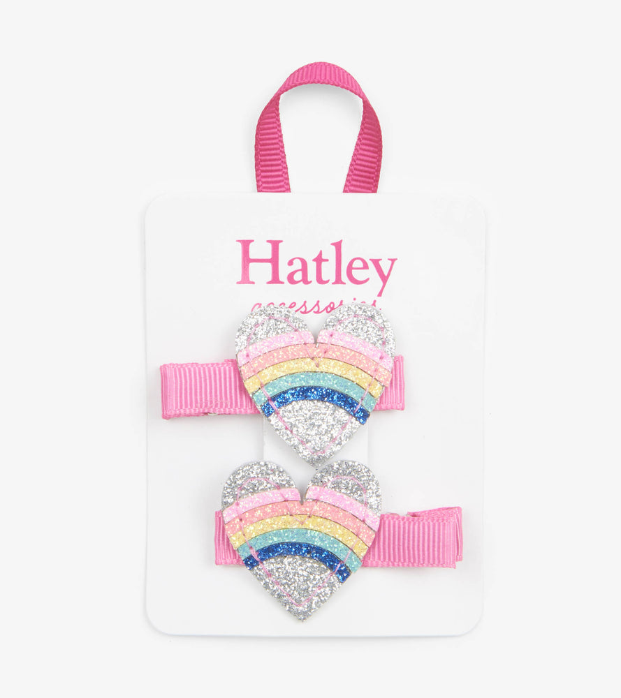 Hatley, Accessories - Bows & Headbands,  Hatley - Rainbow Hearts Hairclip