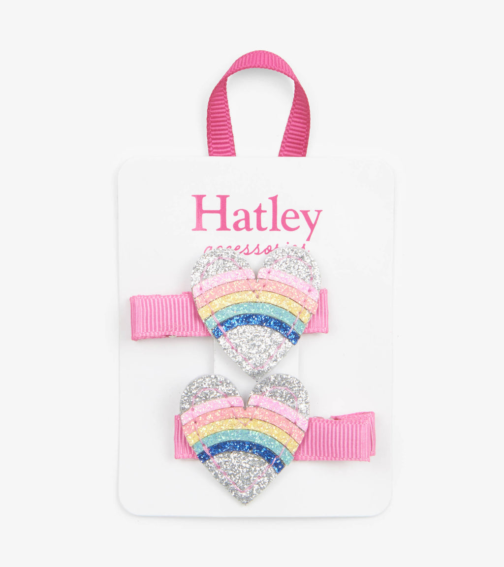 Hatley - Rainbow Hearts Hairclip