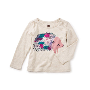 Hedgehog Graphic Tea-Baby Girl Apparel - Shirts & Tops-Tea Collection-3-6M-Eden Lifestyle