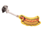 Hot Dog Rope Toy