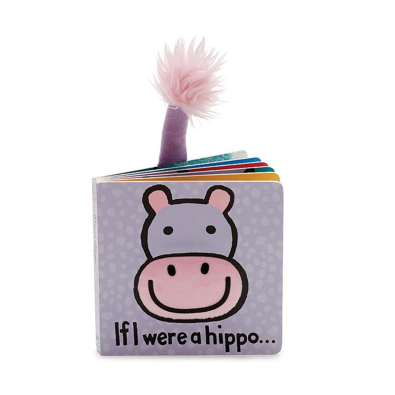 Jellycat, Book, Eden Lifestyle, If I were a Hippo Board Book