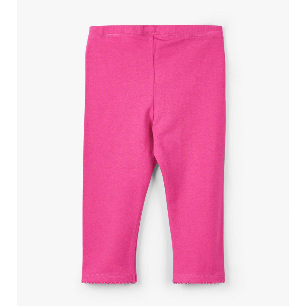Hatley Hot Pink Capri Leggings-Girl - Leggings-Hatley-4-Eden Lifestyle
