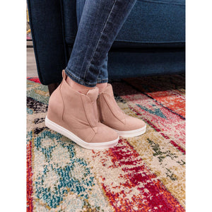 Eden Lifestyle, Shoes - Women,  Blush Wedge Sneaker