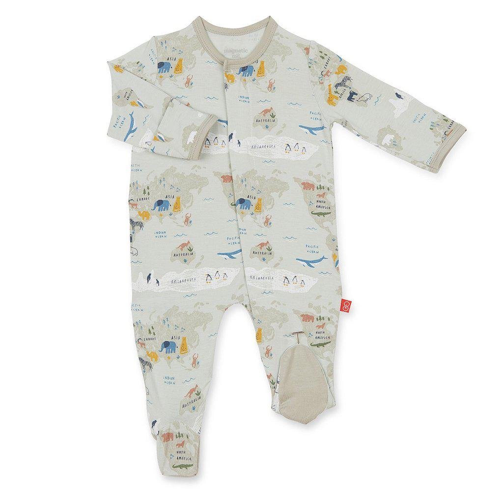 Magnetic Me by Magnificent Baby Sea the World Modal Magnetic Footie-Baby Boy Apparel - One-Pieces-Magnificent Baby-0-3M-Eden Lifestyle