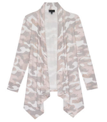 Aime Camo Waterfall Cardigan