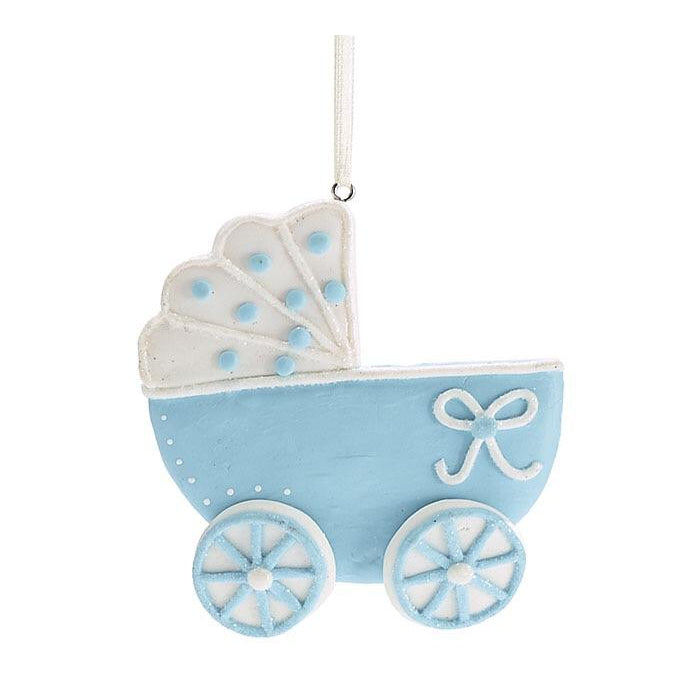 Baby Carriage Ornament - Blue-Gifts - Kids Misc-Eden Lifestyle-Eden Lifestyle