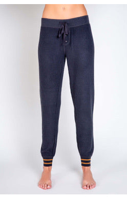 Charcoal Banded Cozy Pant