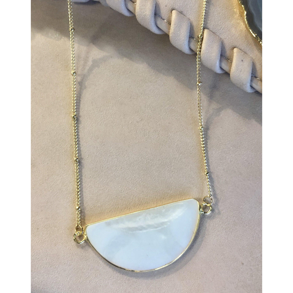 Gold Mother of Pearl Necklace-Accessories - Jewelry-Eden Lifestyle-Eden Lifestyle
