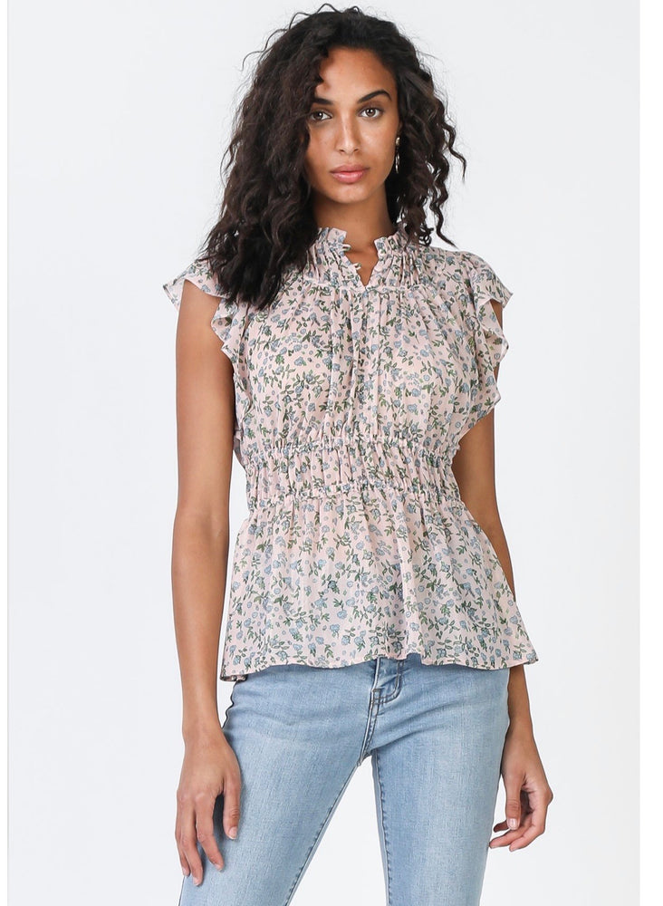 Current Air, Women - Shirts & Tops,  Ditsy Floral Top