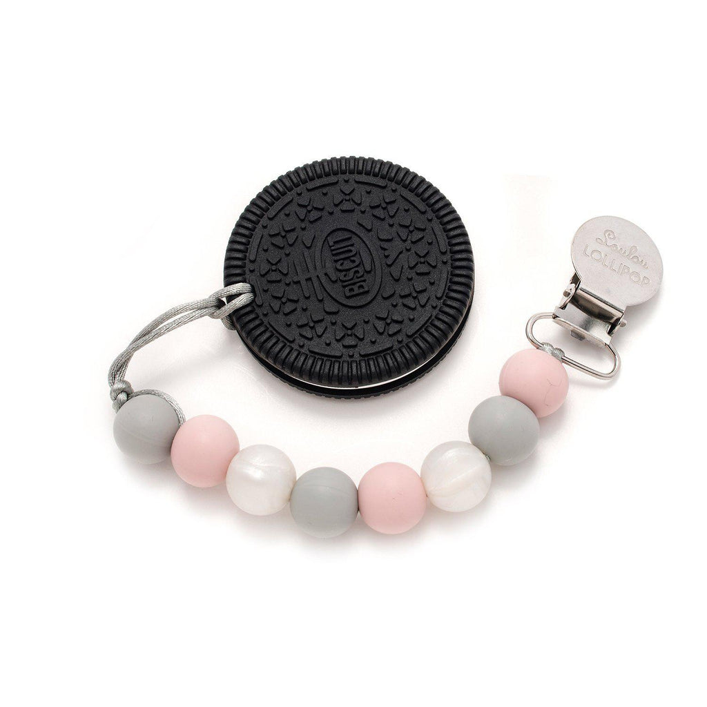 Loulou LOLLIPOP - Teether Set - Cookie Rose Grey-Accessories-Loulou Lollipop-Eden Lifestyle