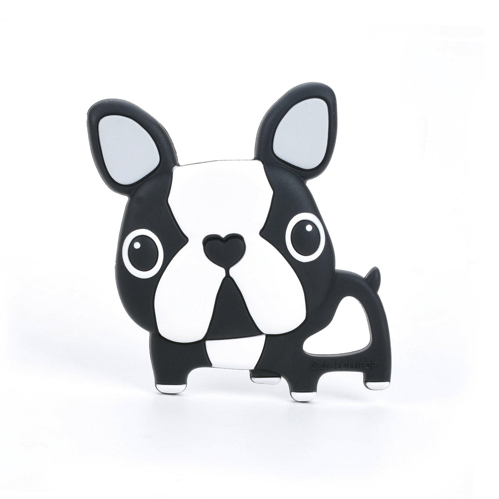 Loulou LOLLIPOP - Teether - Black Boston Terrier