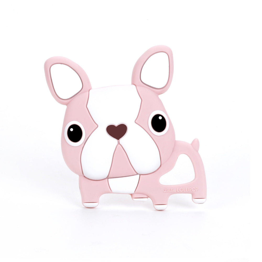 Loulou LOLLIPOP - Teether - Pink Boston Terrier-Baby - Teethers-Loulou Lollipop-Eden Lifestyle