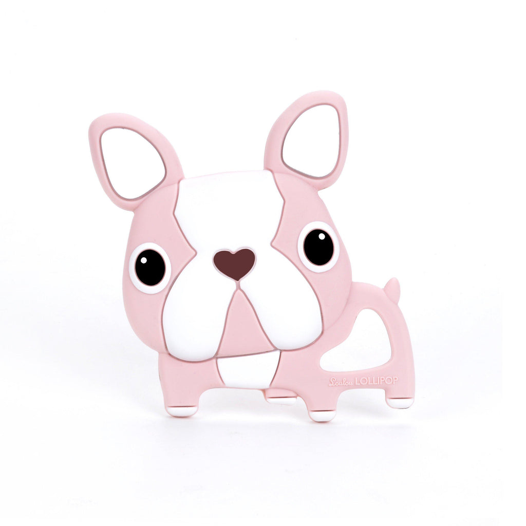 Loulou LOLLIPOP - Teether - Pink Boston Terrier