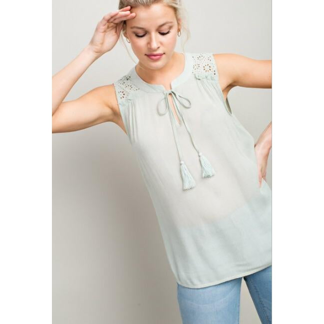 Lucy Marie Tank-Women - Shirts & Tops-Eden Lifestyle-Small-Mint-Eden Lifestyle
