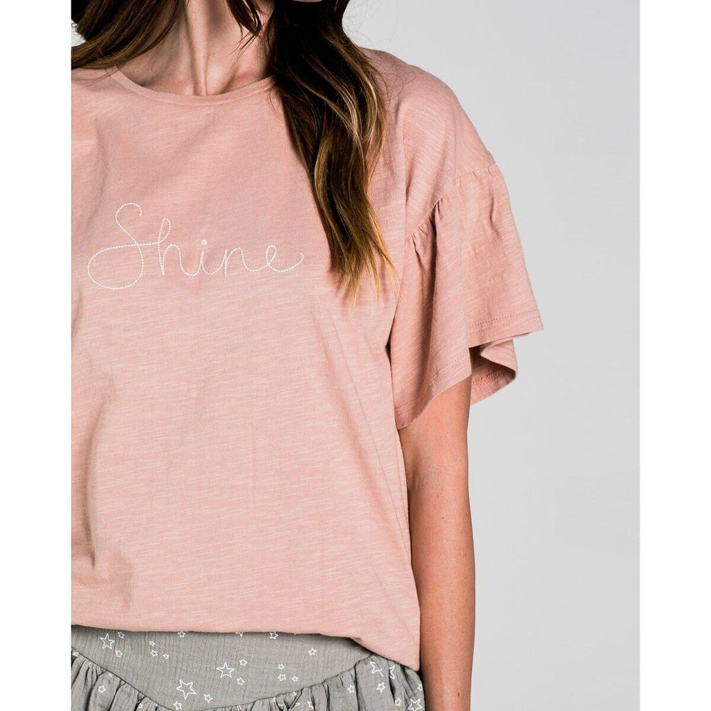 Rylee & Cru Shine Flutter Tee-Women - Shirts & Tops-Rylee and Cru-Small-Eden Lifestyle