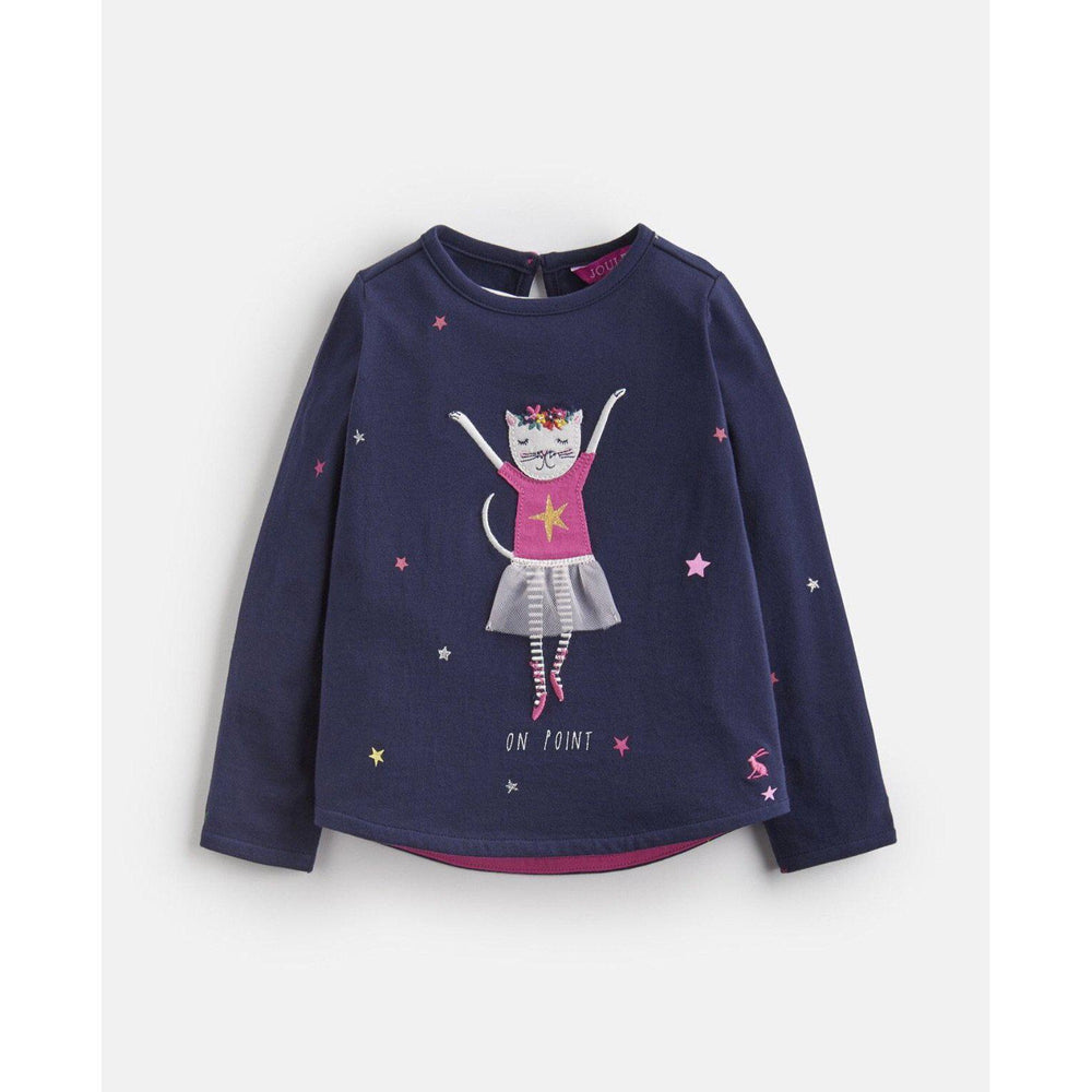 Joules, Girl - Shirts & Tops,  Joules Ava Ballet Cat