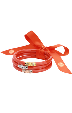BuDhaGirl THREE KINGS ALL WEATHER BANGLES® (AWB®) - Coral - Eden Lifestyle