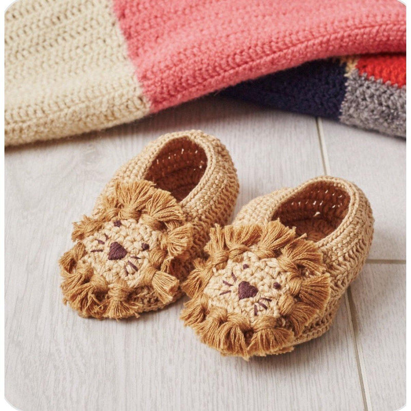 Crochet Lion Booties