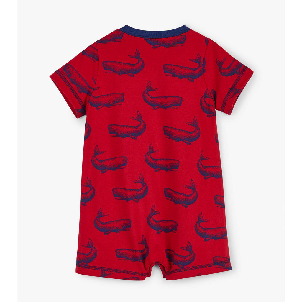Hatley Whale Pod Baby Romper-Baby Boy Apparel - Rompers-Hatley-3-6M-Eden Lifestyle