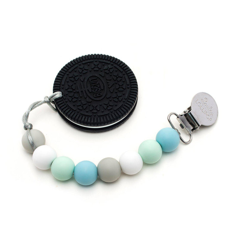 Loulou LOLLIPOP - Teether Set - Cookie Blue Mint-Accessories-Loulou Lollipop-Eden Lifestyle