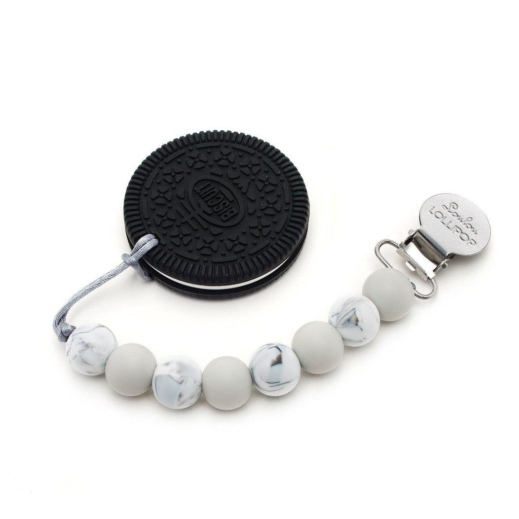 Loulou LOLLIPOP - Teether Set - Cookie Gray-Baby - Teethers-Loulou Lollipop-Eden Lifestyle