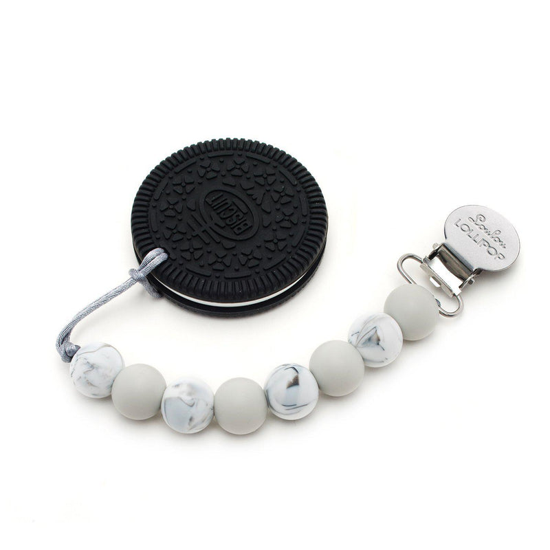 Loulou LOLLIPOP - Teether Set - Cookie Gray-Accessories-Loulou Lollipop-Eden Lifestyle