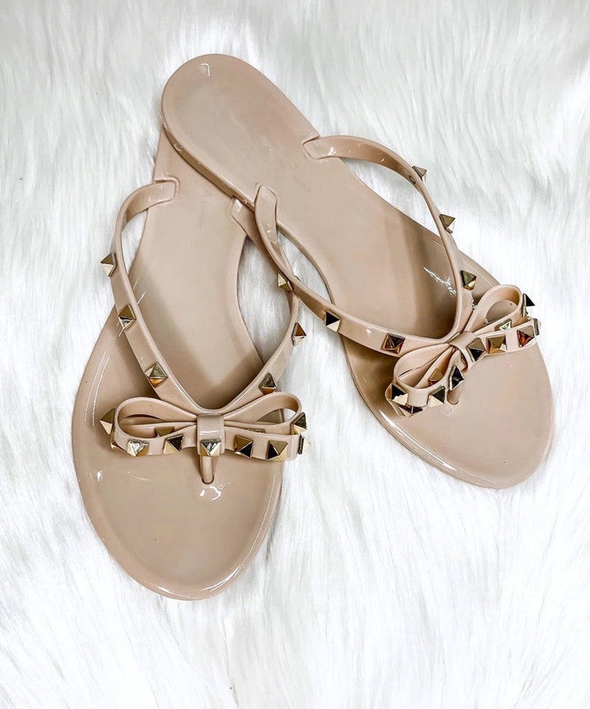 Eden Lifestyle, Shoes - Women,  Bling Bow Slides