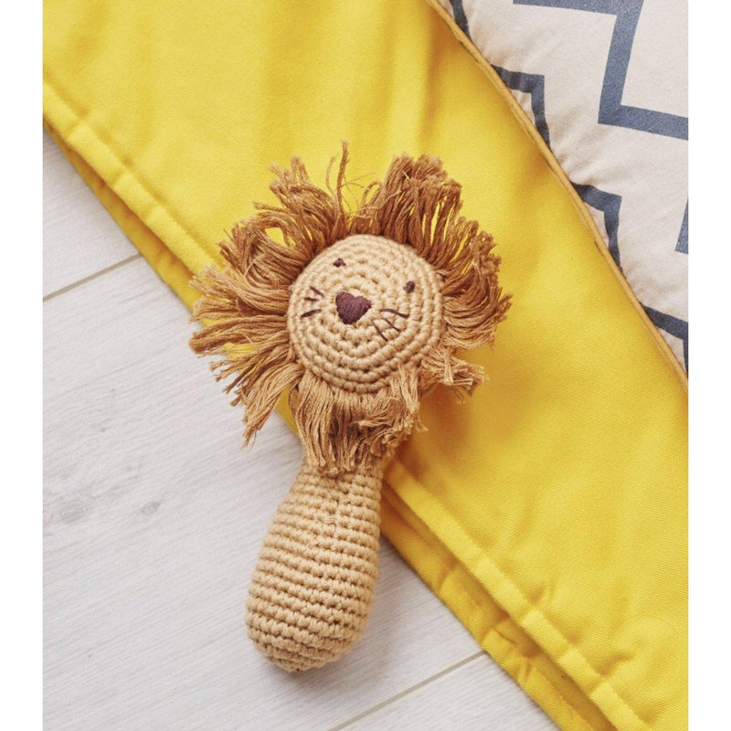 Crochet Lion Rattle Stick
