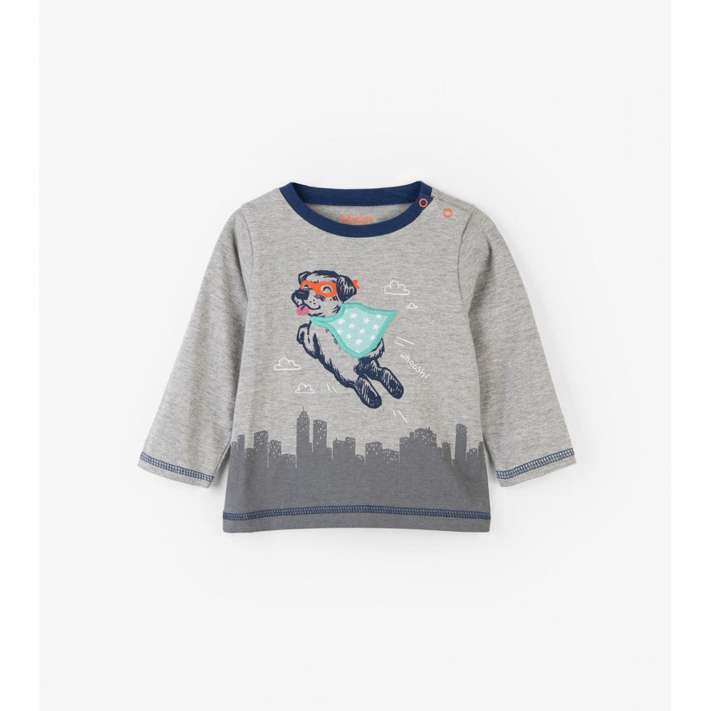Hatley, Baby Boy Apparel - Tees,  Hatley Super Pup Long Sleeve Baby Tee