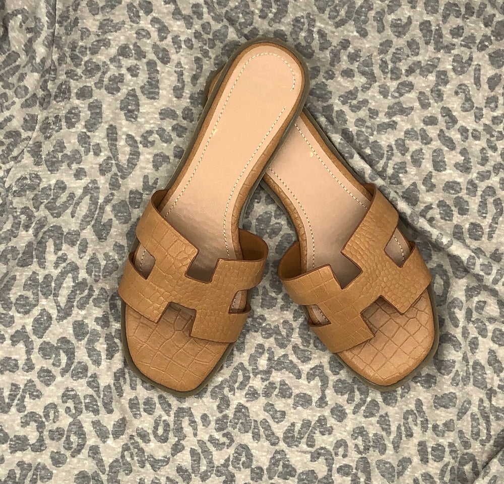 Eden Lifestyle, Shoes - Women,  Camel H Slides