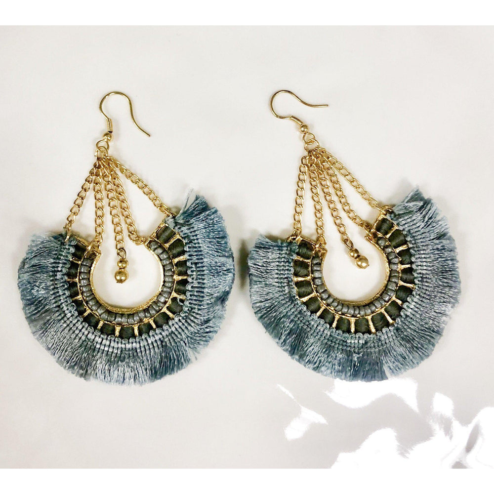 Gaia Gray Earrings-Accessories - Jewelry-Eden Lifestyle-Eden Lifestyle