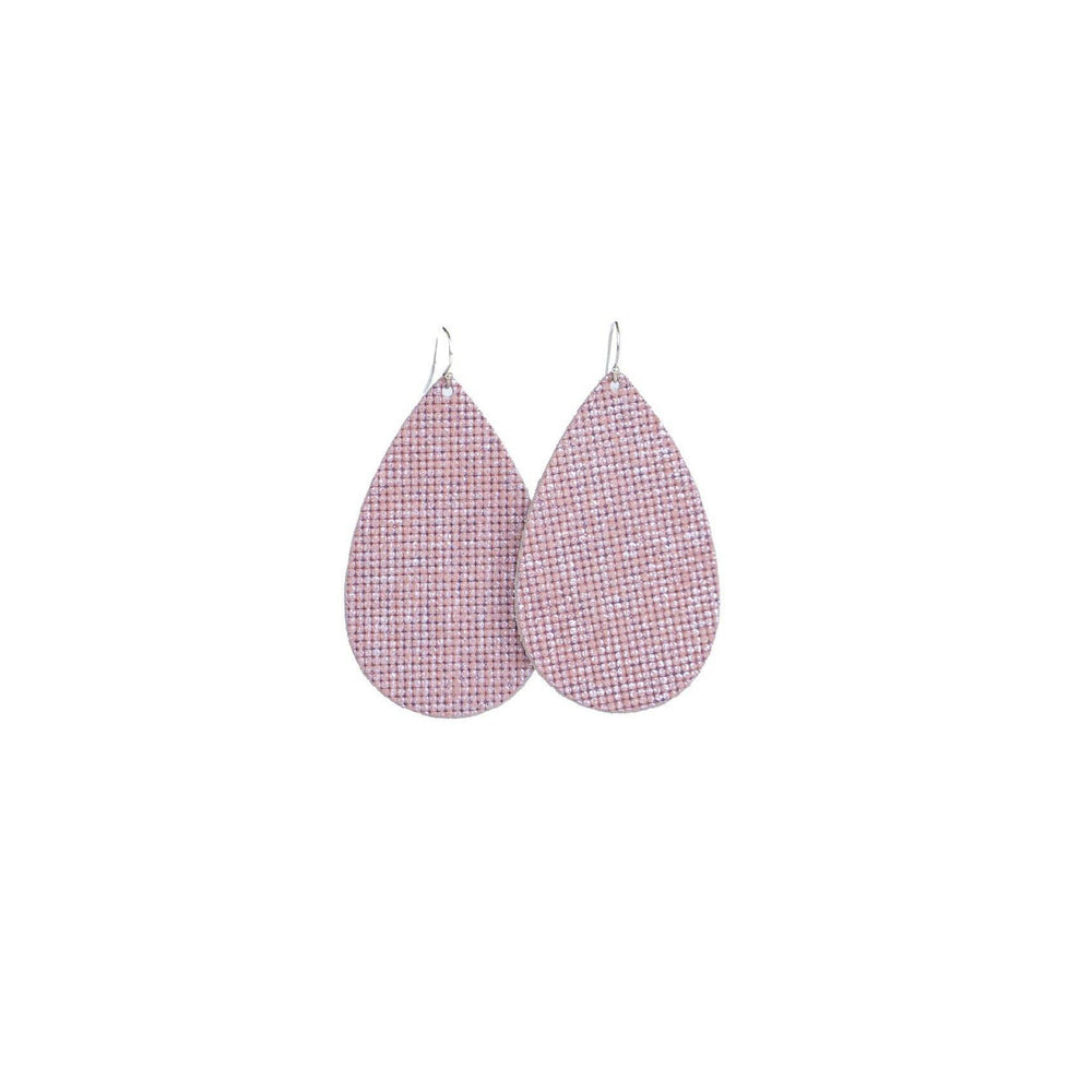 Hue & Hyde, Accessories - Jewelry,  Pretty in Pink Leather Earrings