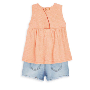 Jessica Simpson Papaya Punch Short Set-Baby Girl Apparel - Outfit Sets-Jessica Simpson-2-Eden Lifestyle