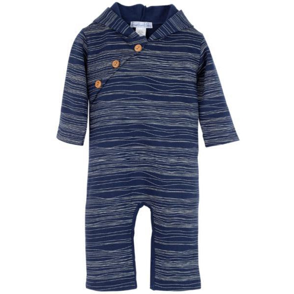 Feather Baby, Baby Boy Apparel - Rompers,  Indigo Romper