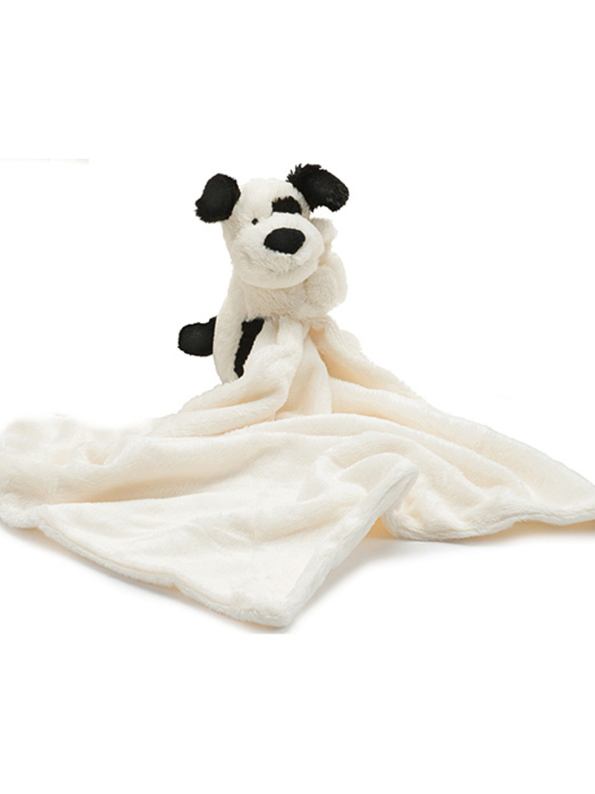 Jellycat, Gifts - Stuffed Animals,  Jellycat Bashful Black and Cream Puppy Soother