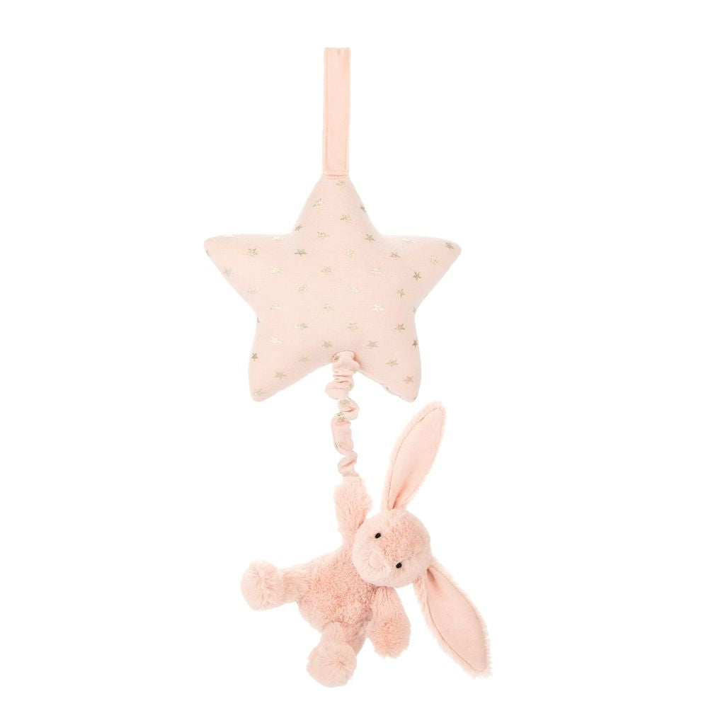 Jellycat Bashful Bunny Musical Pull-Gifts - Stuffed Animals-Jellycat-Blush-Eden Lifestyle