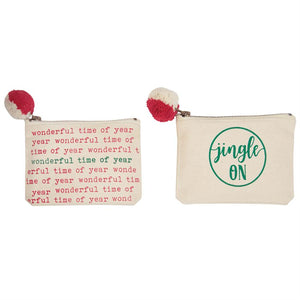 Mud Pie, Home - Decorations,  Mud Pie - Holiday Pom Pouch