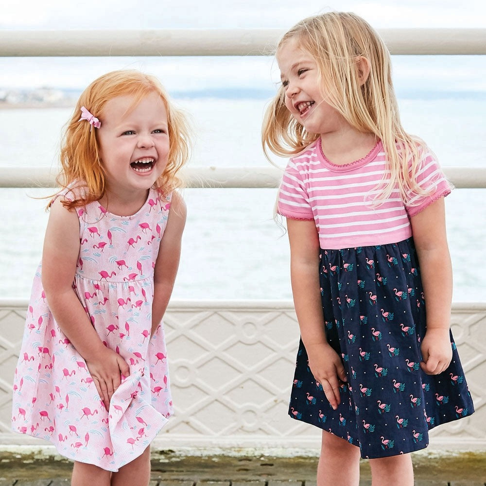 Jojo Maman Bebe, Baby Girl Apparel - Dresses,  Jojo Maman Bebe Girls' Flamingo Summer Baby Dress