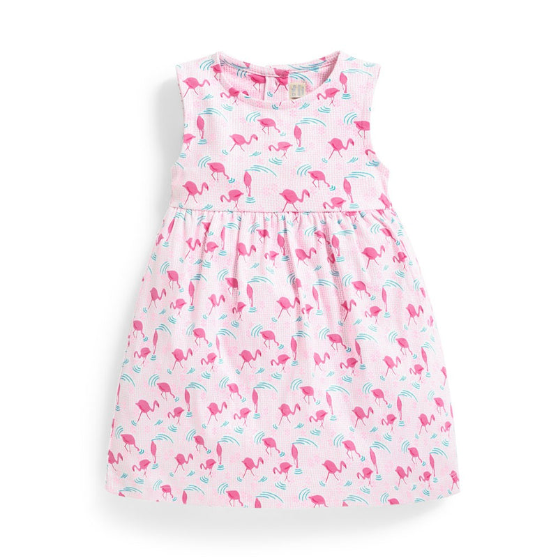 Jojo Maman Bebe Girls' Flamingo Summer Dress-Girl - Dresses-Jojo Maman Bebe-2-3Y-Eden Lifestyle