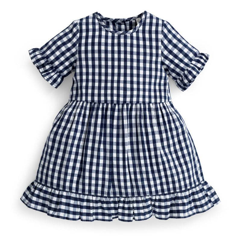 Jojo Maman Bebe Navy Gingham Dress-Girl - Dresses-Jojo Maman Bebe-2-3Y-Eden Lifestyle