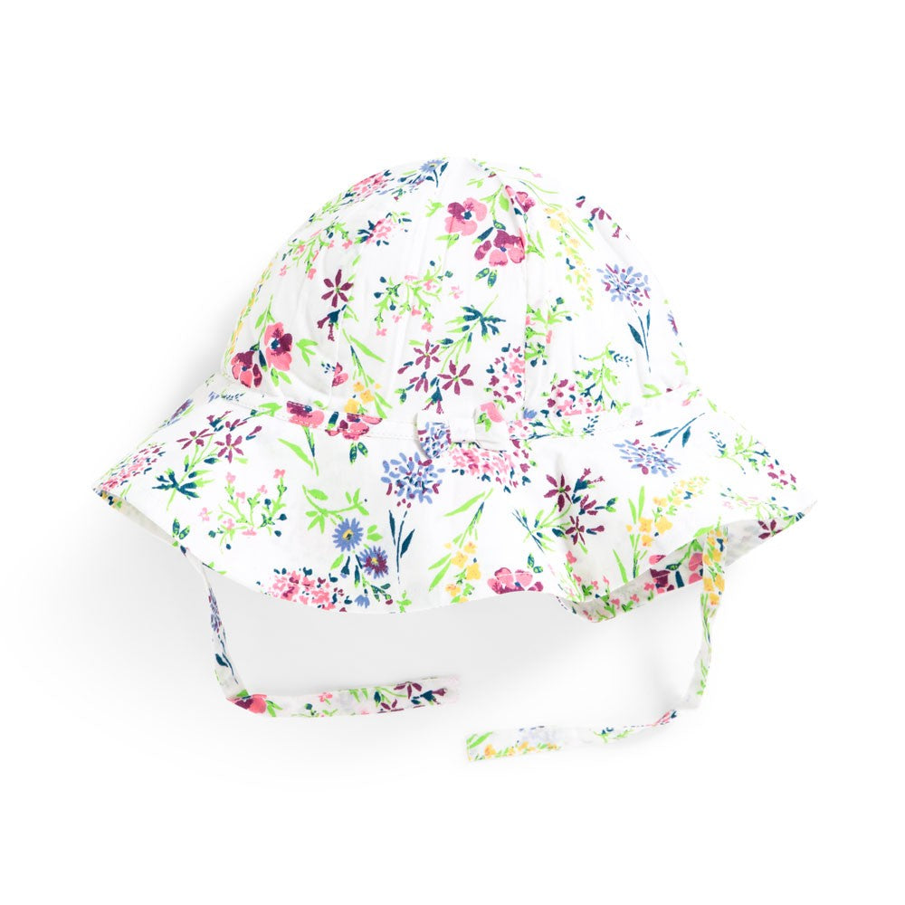 Jojo Maman Bebe, Accessories - Hats,  Floral Floppy Sun Hat