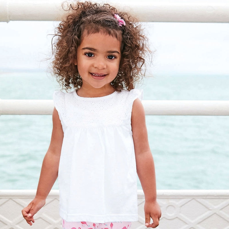 Jojo Maman Bebe Pretty Embroidered Top-Girl - Shirts & Tops-Jojo Maman Bebe-2-3 yrs-White-Eden Lifestyle