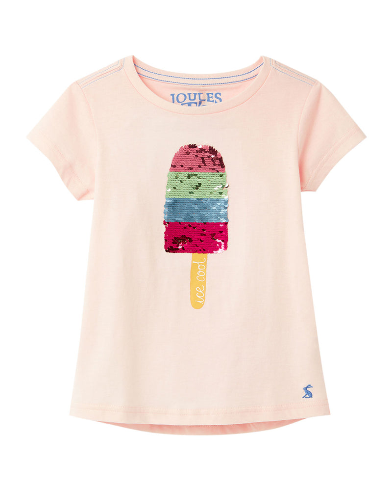 Joules - Girl's Astra Sequin Popsicle Tee