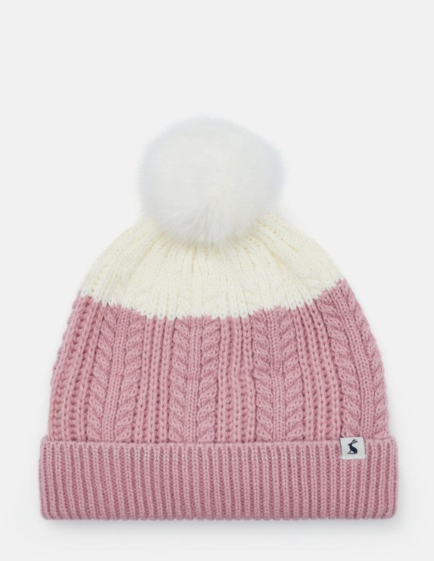 Joules Bobble Cherry Blossom Hat