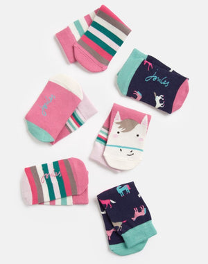 Joules, Accessories - Socks,  Joules Brilliant Bamboo Multi Horse 3 Pack Socks