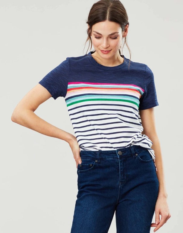 Joules - Carley T-Shirt - Blue Border Stripe