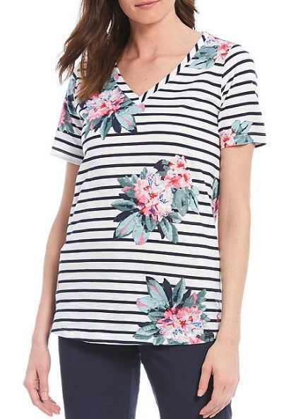 Joules, Women - Shirts & Tops,  Joules - Celina V-Neck Top - Floral Print