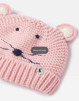 Joules Baby Chummy Character Mittens in PINK BUNNY