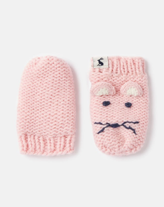 Joules Chummy Pale Pink Mouse Mittens