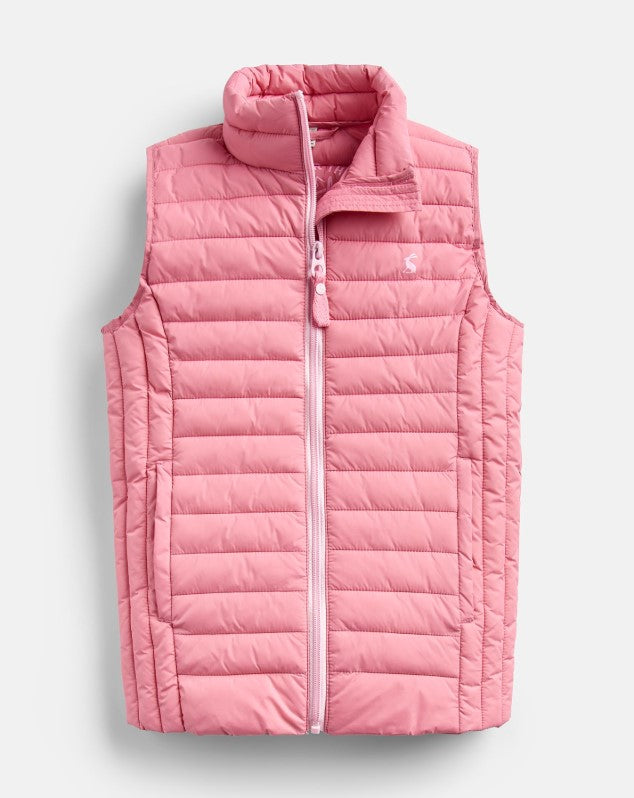 Joules Croft Padded Vest - Cherry Blossom